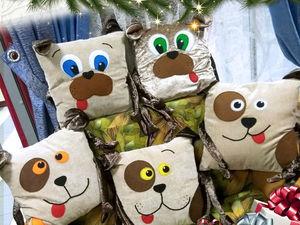 Собачка - символ 2018 года.. Ярмарка Мастеров - ручная работа, handmade.