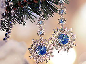 Snowflake Earrings Tutorial. Livemaster - handmade