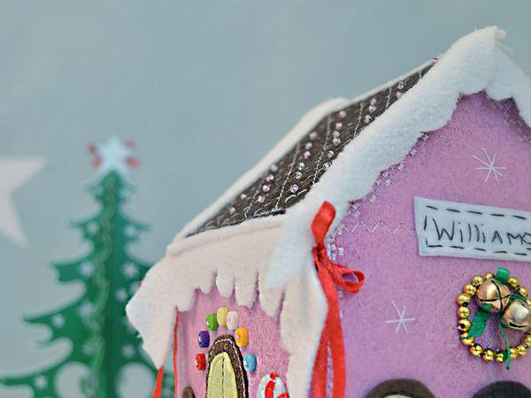 Шьем «пряничный домик» из фетра   Ярмарка Мастеров - ручная работа, handmade