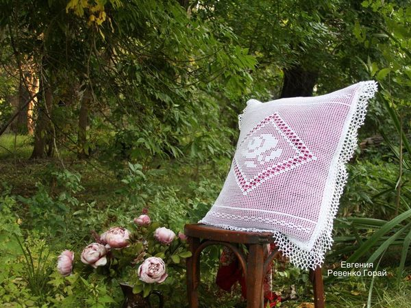 вязаная наволочка | Ярмарка Мастеров - ручная работа, handmade