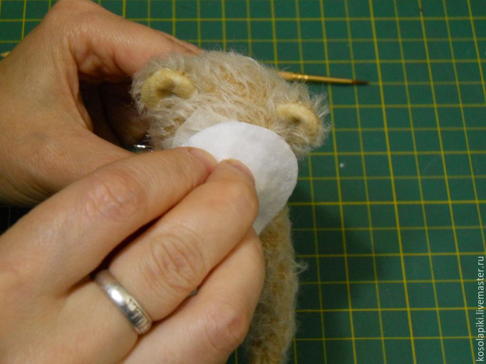 как сделать мишке нос