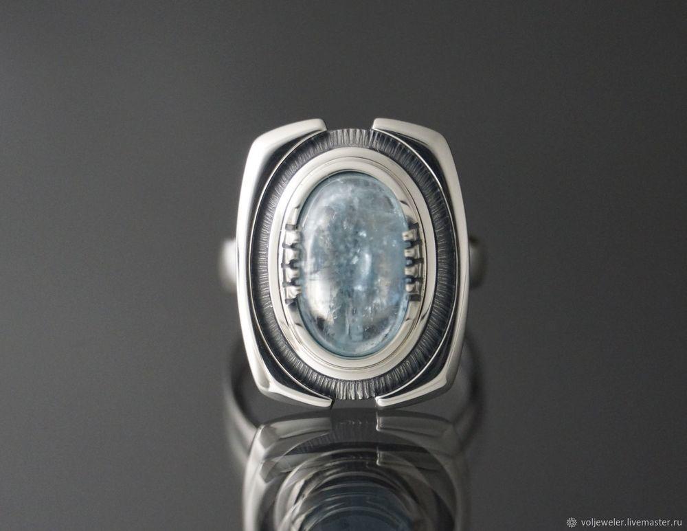видео, камни натуральные, голубой цвет, серебро 925 пробы