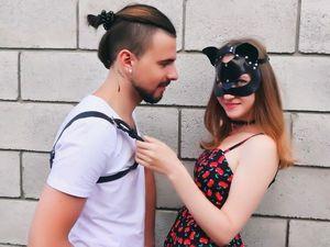 Видео. Мужская портупея из кожи и  женская маска кошки.. Ярмарка Мастеров - ручная работа, handmade.