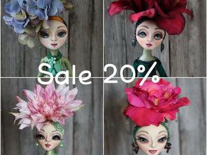 АКЦИЯ! Скидка 20% на всех готовых кукол. | Ярмарка Мастеров - ручная работа, handmade