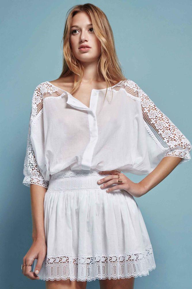 Белое бохо, или Шикарная одежда для королевы летнего пляжа, фото № 58