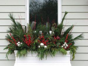 Интересная идея декора: рождественский подоконник. Ярмарка Мастеров - ручная работа, handmade.