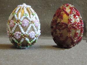 Пасхальные яйца из бисера | Ярмарка Мастеров - ручная работа, handmade