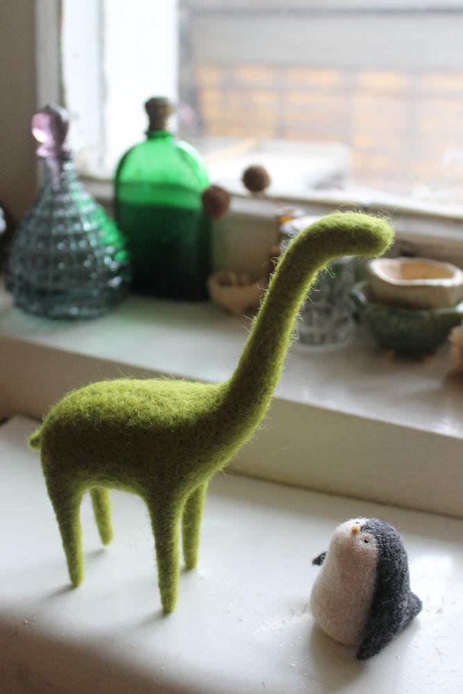 мастер-класс по валянию, фигурка, динозавр