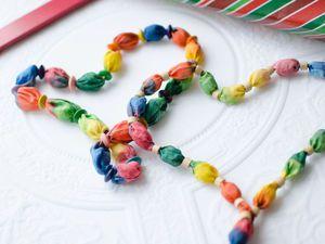 Создаем из шелка «Радужные бусы». Ярмарка Мастеров - ручная работа, handmade.