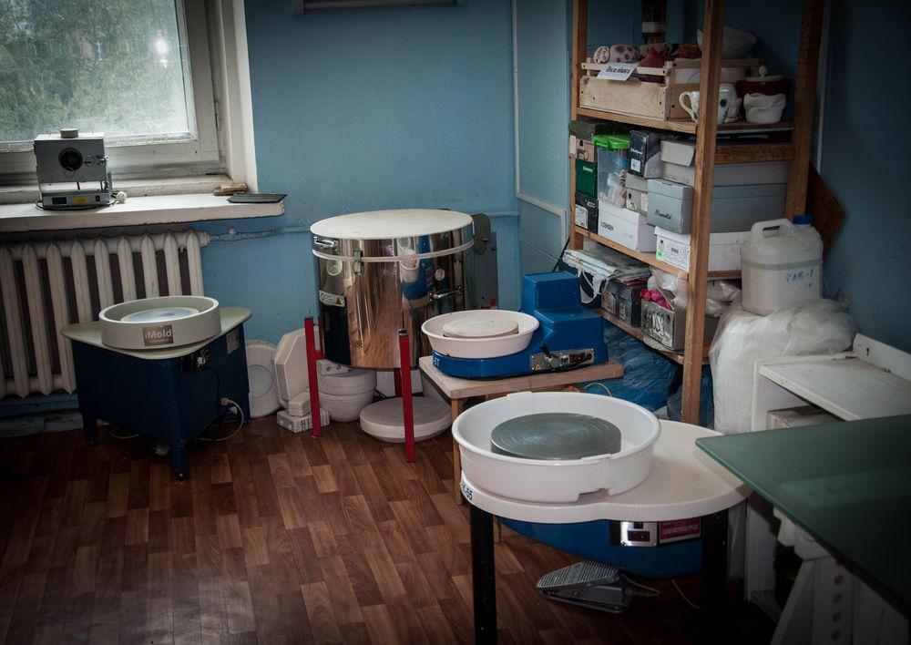 курсы керамики, гончарный круг