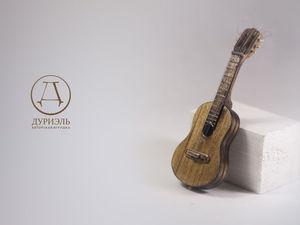 Мастерим миниатюрную гитару «Ретро» для куклы. Ярмарка Мастеров - ручная работа, handmade.