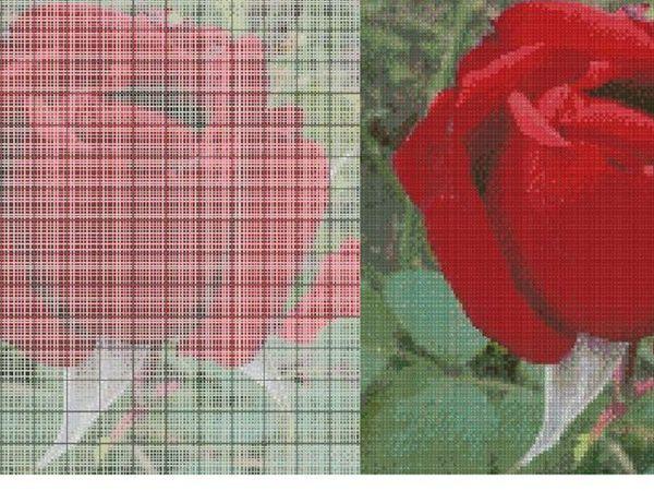 Изготовление схемы для вышивания крестом по фото. | Ярмарка Мастеров - ручная работа, handmade