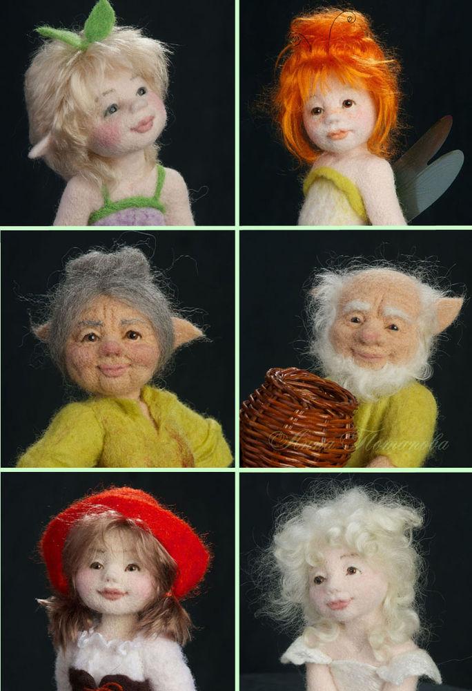 кукла из шерсти, авторская ручная работа