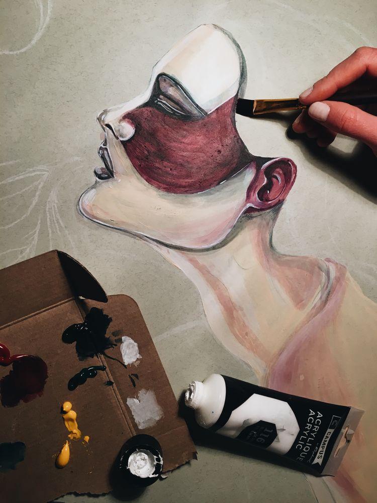 наивное искусство, артдеко, страсть, мысли, голая