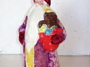 Антикварный Дед Мороз. Реставрация. Дополнительные фото. Ярмарка Мастеров - ручная работа, handmade.