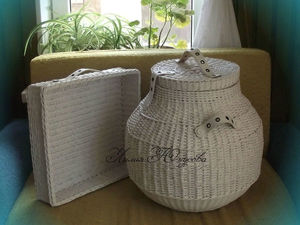 ЭКО-стиль. Короба для сбора и хранения белья. Ярмарка Мастеров - ручная работа, handmade.