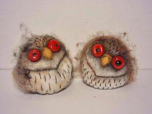 Делаем валяных совушек-ерошеки   Ярмарка Мастеров - ручная работа, handmade