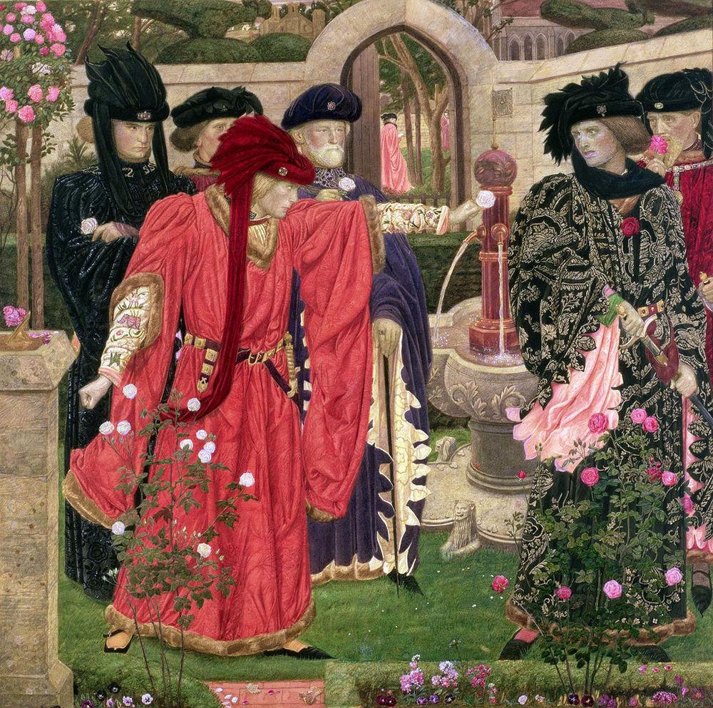 война роз, винтажные украшения