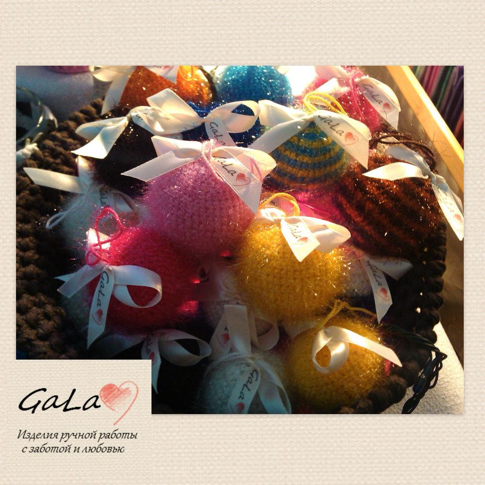 шарики для детей, елочные шары, распродажа вязаных работ