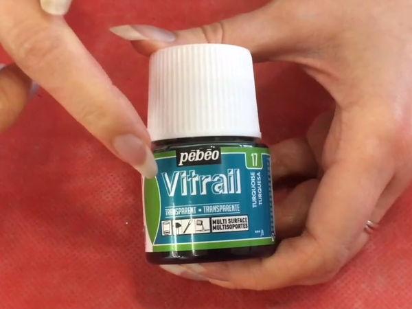 Обзор витражных красок Vitrail Pebeo Transparet и Opale