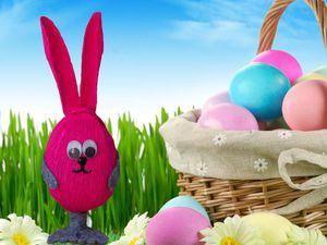 Декорируем к празднику киндер-сюрприз «Пасхальный кролик». Ярмарка Мастеров - ручная работа, handmade.