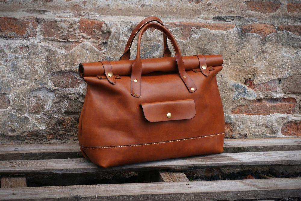 сумка из кожи, сумка женская, handcraft, рыжая сумка