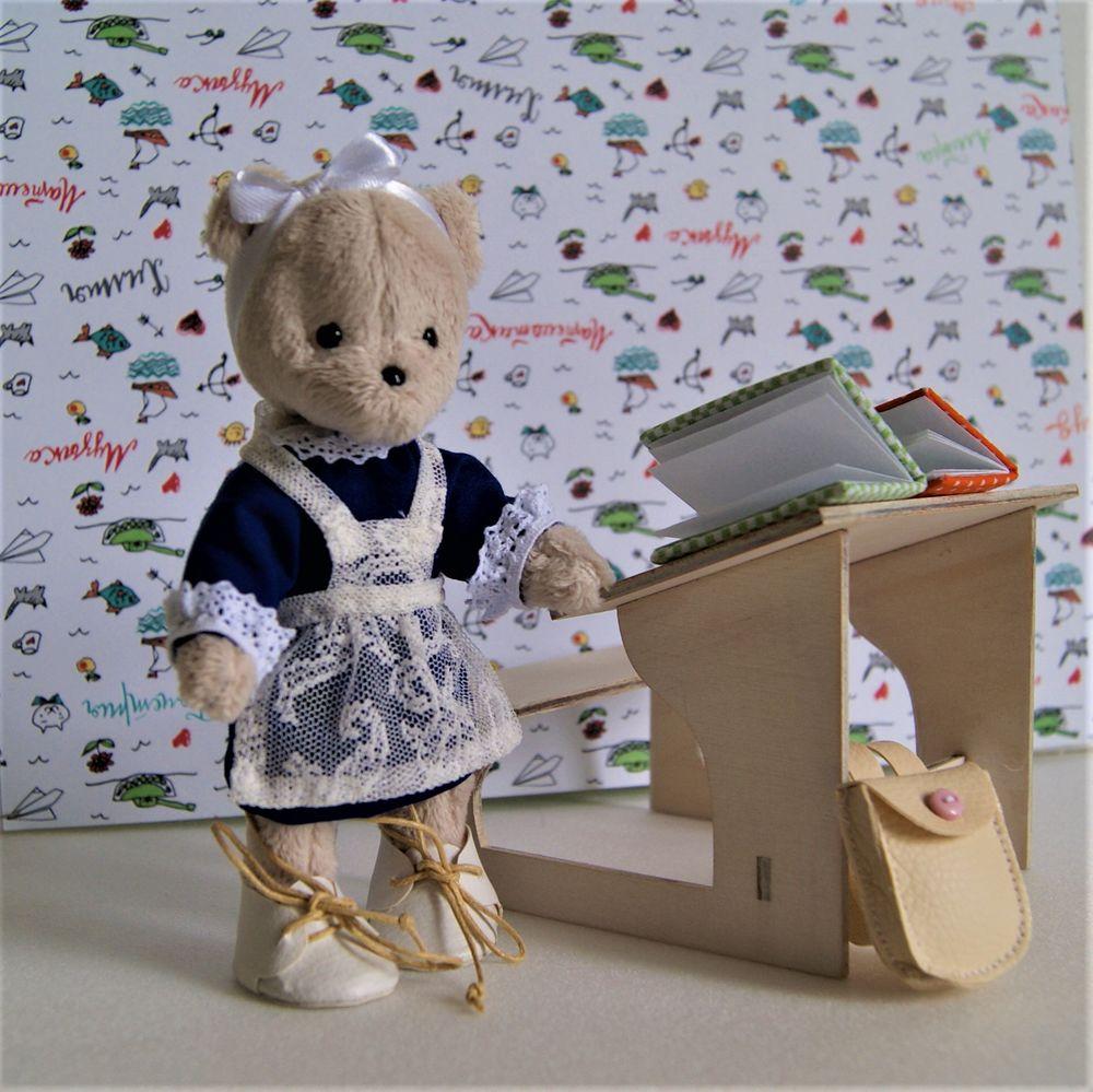 подарок для дочки, мишка тедди, домик-сумка, дом для мишки