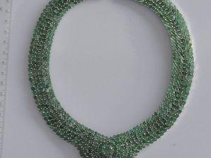 Колье из изумруда природного Зеленые Цветы. Ярмарка Мастеров - ручная работа, handmade.