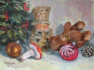Зима и ее праздники — 12% Скидки на картины маслом!. Ярмарка Мастеров - ручная работа, handmade.