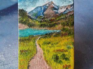 Ускоренная живопись маслом - Пейзаж 'Горная миниатюра №5' | Ярмарка Мастеров - ручная работа, handmade