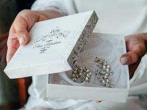 """Упаковка свадебных украшений """"La Luna bridal"""". Ярмарка Мастеров - ручная работа, handmade."""