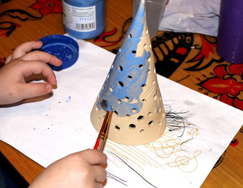 керамика на ёлку, керамика новый год