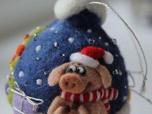 Новый новогодний шарик с хрюшкой!. Ярмарка Мастеров - ручная работа, handmade.