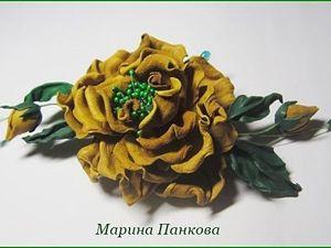 Мастер класс брошь-роза из кожи. Ярмарка Мастеров - ручная работа, handmade.