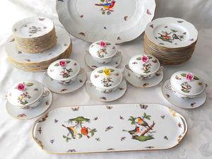 Великолепный столовый сервиз Herend, Rothschild. Ярмарка Мастеров - ручная работа, handmade.
