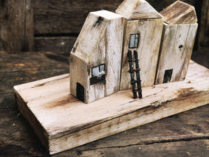 Ещё один городок на дощечке. Ещё одна чудесная история). Ярмарка Мастеров - ручная работа, handmade.