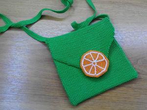 Видео мастер-класс: вяжем крючком детскую сумочку «Мандаринка» | Ярмарка Мастеров - ручная работа, handmade