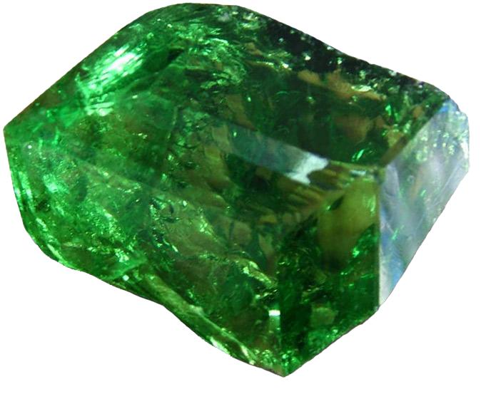 Камень зеленый гранат - уваровит.