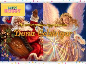 Рождественские иллюстрации художницы Dona Gelsinger   Ярмарка Мастеров - ручная работа, handmade