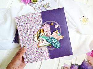 """Фотоальбом свадебный семейный """"Violet"""". Ярмарка Мастеров - ручная работа, handmade."""