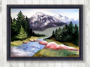 Лесной пейзаж   Ярмарка Мастеров - ручная работа, handmade