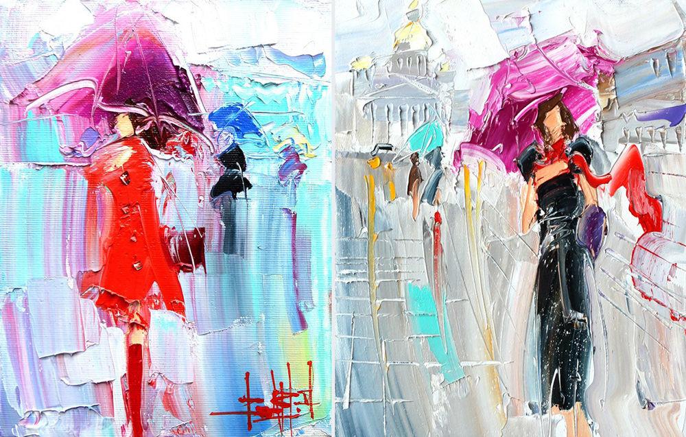 Konstantin Sukhopluev: Artist Painting Rain, фото № 6