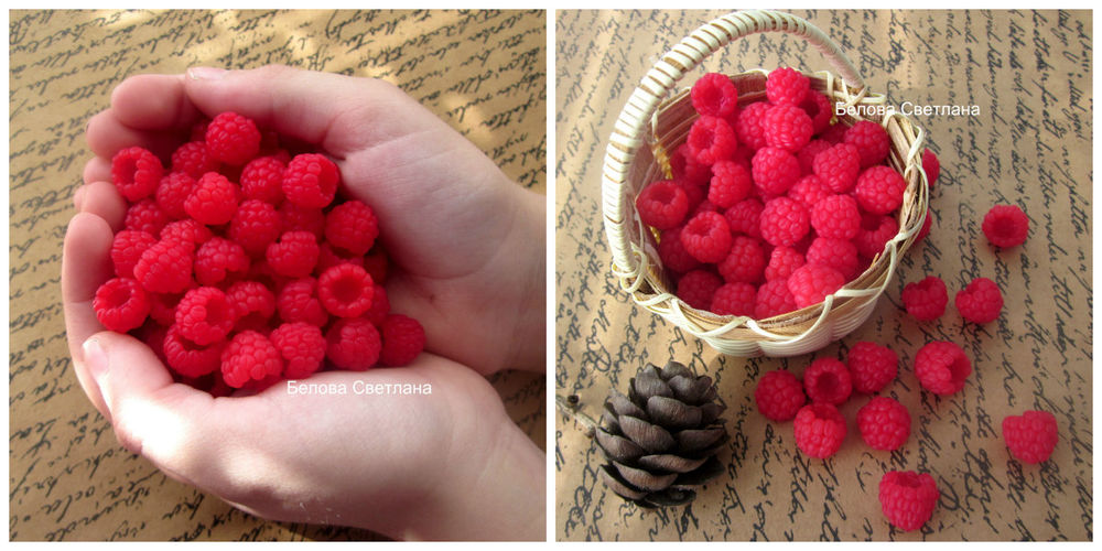 Simple and Easy: Raspberries from Polymer Clay, фото № 6