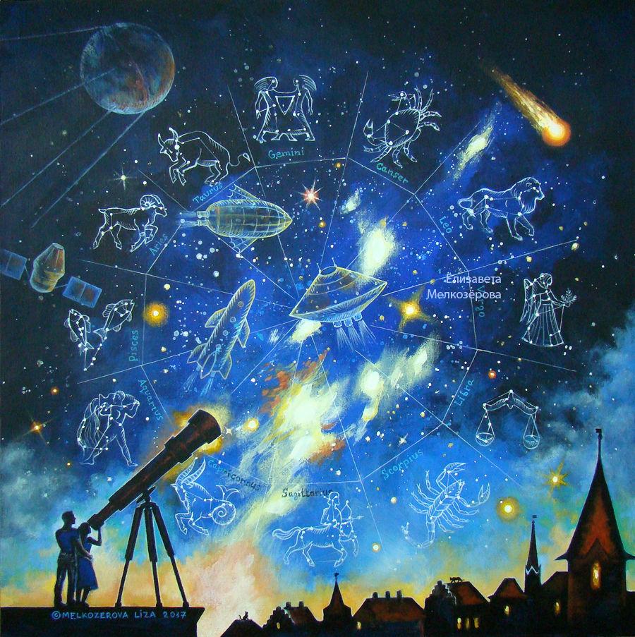 звездное небо звезды, близнецы весы водолей, ночное небо мистика