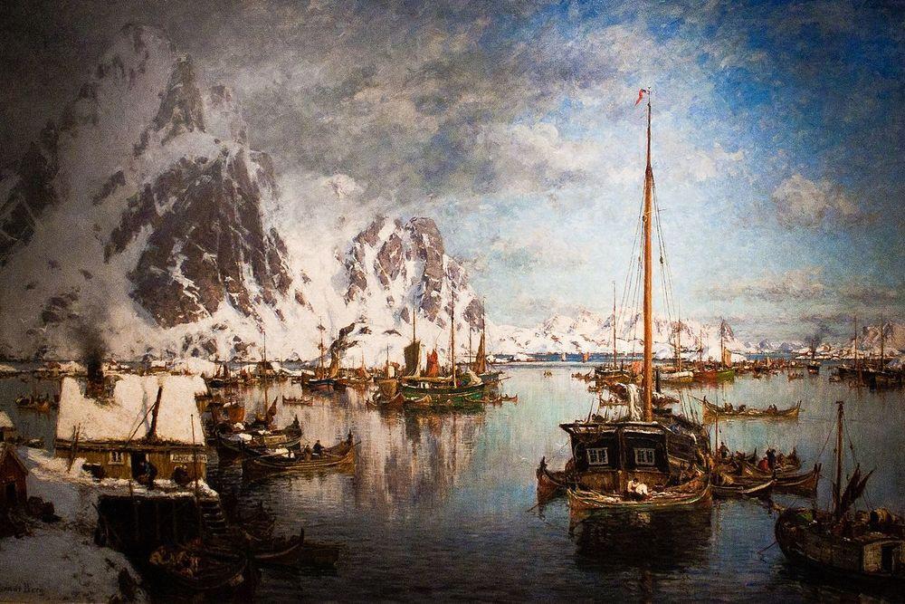 Норвежский художник Gunnar Berg — певец Лофотенских островов