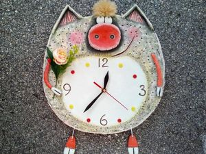 "DIY ""Piggy"" Wall Clock. Livemaster - handmade"