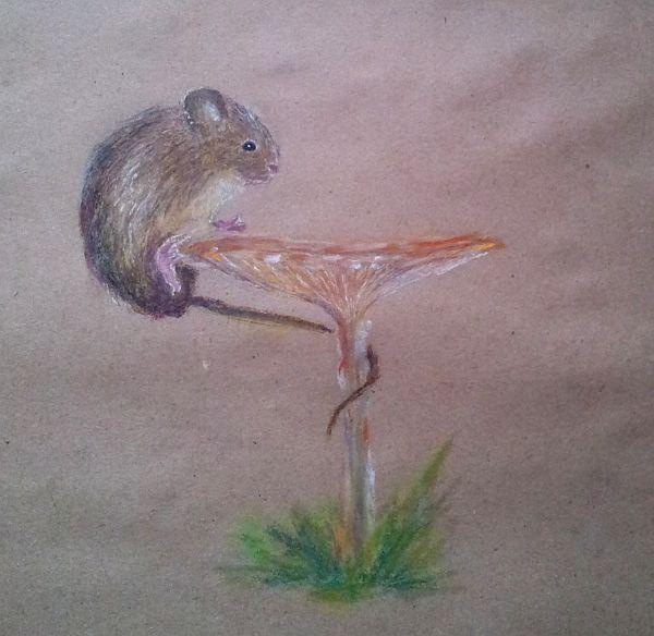релаксация, ежевика, животные, рисование для отдыха, грызуны