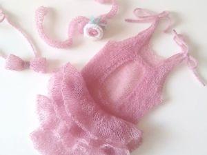 Комплект для фотосессии новорожденных. Ярмарка Мастеров - ручная работа, handmade.