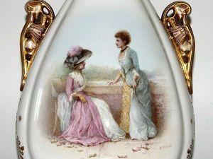 """В продаже! Роскошная, элегантная ваза от мануфактуры """"Copeland"""", Англия, около 1880 года. Ярмарка Мастеров - ручная работа, handmade."""