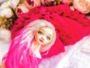 Процесс работы Роуз авторская кукла, интерьерная коллекционная кукла, подарок. Ярмарка Мастеров - ручная работа, handmade.